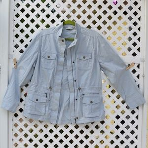 L L Bean Women's Field Jacket Light Blue L